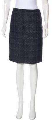 Tory Burch Bouclé Pencil Skirt