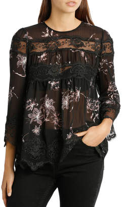 Top Print and lace
