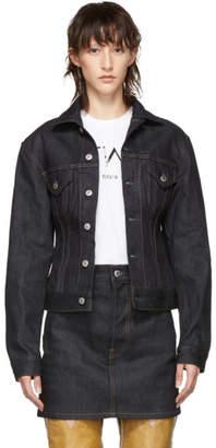 Helmut Lang Indigo Denim Femme Trucker Jacket