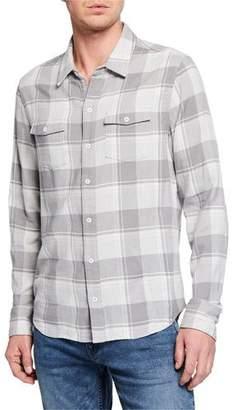 Paige Men's Long-Sleeve Plaid Everett Sport Shirt