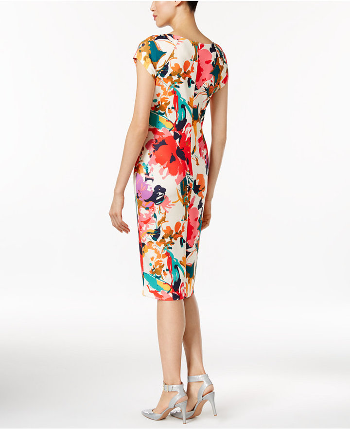 ECI Printed Sheath Dress 2