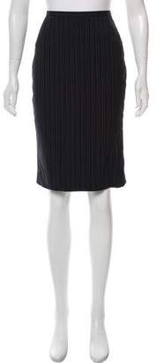 Max Mara Pinstripe Pencil Skirt