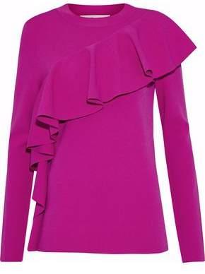 Diane von Furstenberg Ruffled Knitted Top