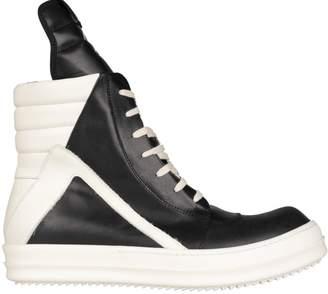 Rick Owens High-top Geobasket Leather Sneakers