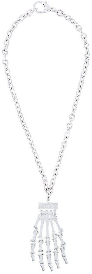 MoschinoMoschino skeleton hand necklace