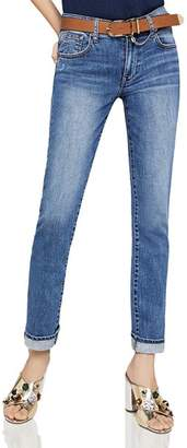 BCBGeneration Surf Boyfriend Jeans in Dark Stone Wash
