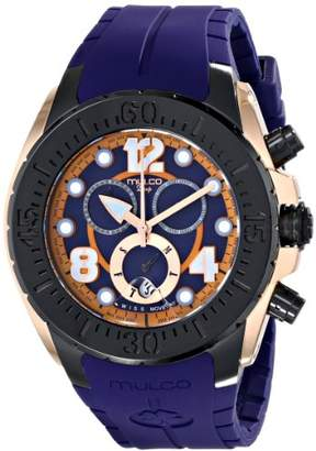 Mulco Unisex MW1-82197-046 Analog Display Swiss Quartz Blue Watch