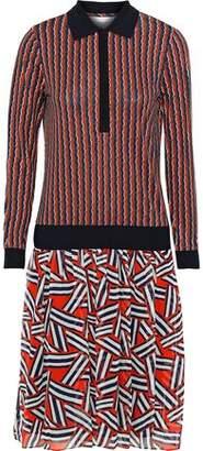 Diane von Furstenberg Carinna Printed Silk Crepe De Chine Dress