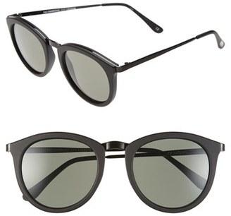 Le Specs 'No Smirking' 50mm Round Sunglasses $79 thestylecure.com