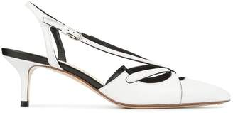 Francesco Russo monochrome low pumps