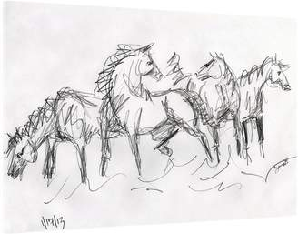 STUDY Two Palms Art Bazaar Horse No. 03 by Donna Bernstein (Plexi Acrylic)