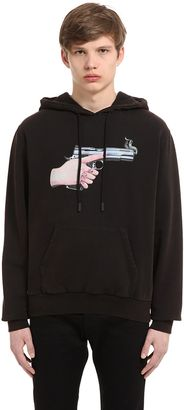 Don't Move Hooded Cotton Sweatshirt $505 thestylecure.com
