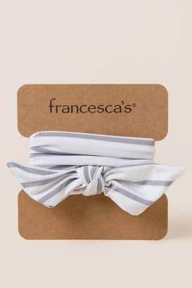 francesca's Llindy Stripe Soft Wrap - Oxford Blue