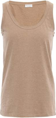 Brunello Cucinelli Bead-embellished Stretch-cotton Jersey Tank