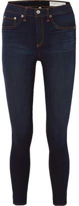Rag & Bone High-rise Skinny Jeans - Dark denim