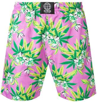 SSS World Corp floral print swim shorts
