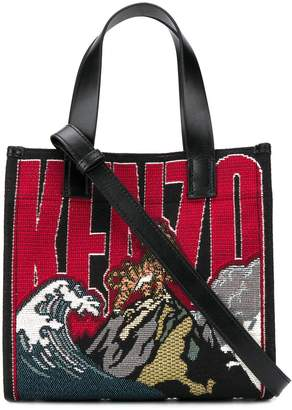 Kenzo Jungle Tiger Mountain embroidered tote bag