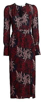 A.L.C. Women's Bailey Floral Silk Midi Dress