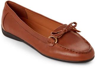Easy Spirit Summer Tan Antil Moc Toe Loafers
