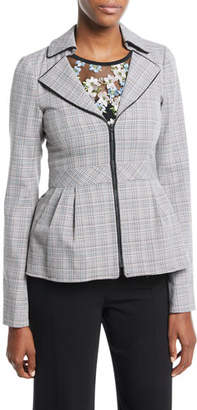 Nanette Lepore Star Crossed Zip Peplum Jacket