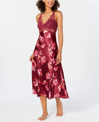 Thalia Sodi Lace-Trim Floral-Print Nightgown, Created for Macy's