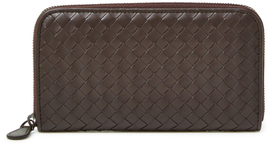 Bottega Veneta Intrecciato Nappa Leather Zip Around Wallet