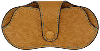 Valextra Tan Leather Glasses Case
