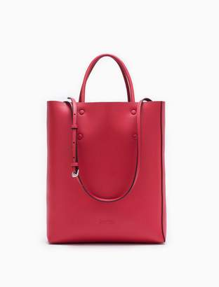 Calvin Klein enveloped small leather north/south tote bag