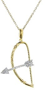 India Hicks Bow and Arrow Necklace with Diamonds