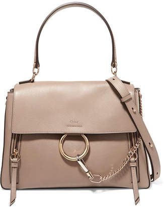 Chloé Faye Day Large Textured-leather Shoulder Bag