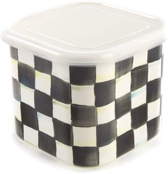 Mackenzie Childs Courtly Check Medium Square Container