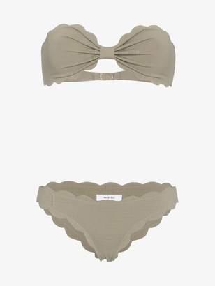 Marysia Swim Green Antibes strapless bikini
