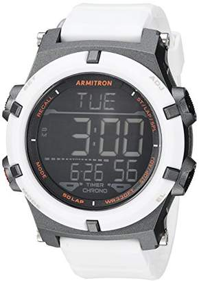 Armitron Sport Men's 40/8438WHT Digital Chronograph Resin Strap Watch
