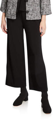 Caroline Rose Plus Size Crepe Suzette Wide-Leg Pull-On Pants