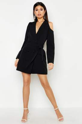 boohoo Woven Cut Out Shower Blazer Dress