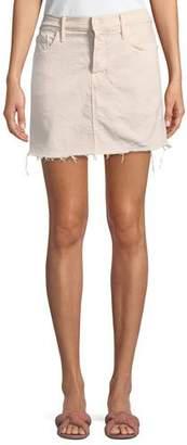 Mother Vagabond Mini Fray Denim Skirt