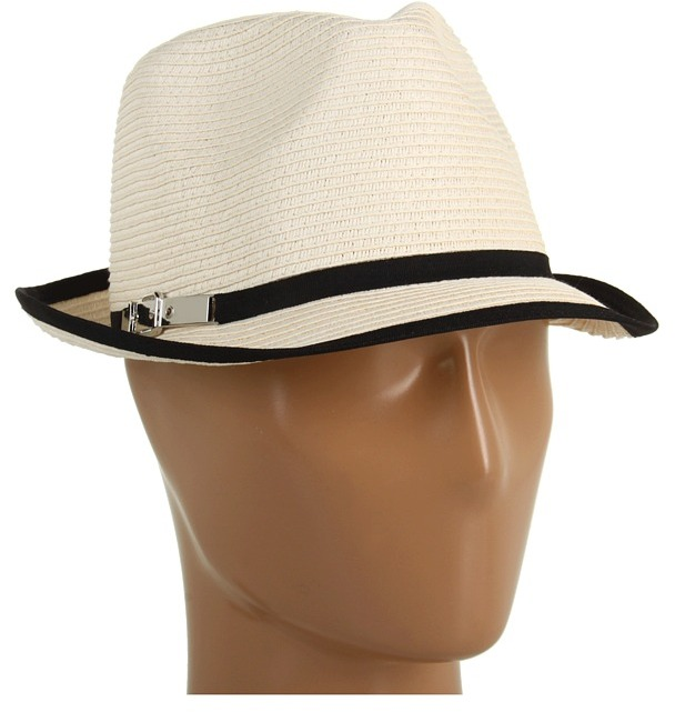 Calvin Klein Pop Color Fedora (Black) - Hats