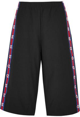 Vetements - Champion Cotton-blend Jersey Shorts - Black $540 thestylecure.com
