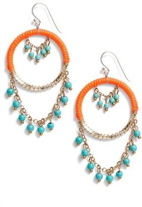 Women's Panacea Rope Hoop Drop Earrings $22 thestylecure.com