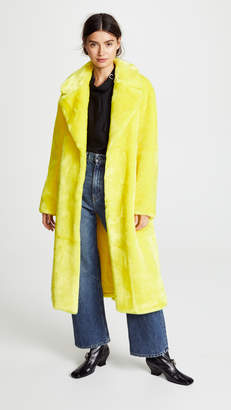 Tibi Oversized Faux Fur Coat