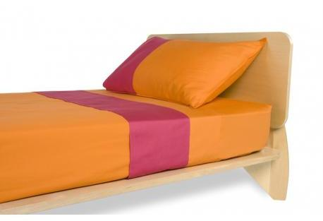 TrueModern Spot On Sheets And Case Set - In Orange - Twin Size