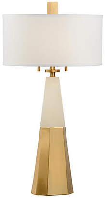 Chelsea House Winfield Alabaster Table Lamp - Coffee Bronze/White