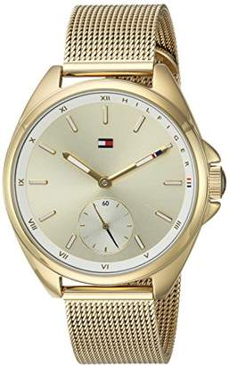 Tommy Hilfiger Women's Sport' Quartz -Tone-Stainless-Steel Casual Watch
