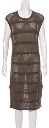 AllSaints Linen-Blend Knit Midi Dress