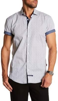 English Laundry Paisley Short Sleeve Classic Fit Shirt