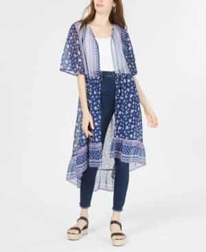 Ultra Flirt Juniors' High-Low Kimono