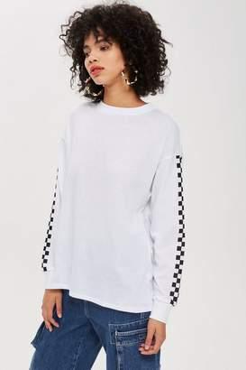 Topshop PETITE Checkerboard Tunic T-Shirt
