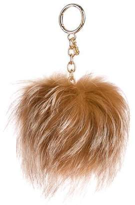 Michael Kors Fox Fur Bag Charm w/ Tags