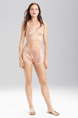 Josie Natori Stretch Silk Charmeuse Cropped Cami