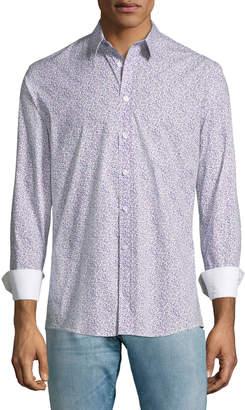 Duchamp Micro-Floral Sport Shirt